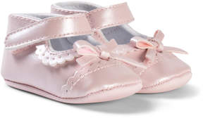Absorba Pink Brogue and Bow Crib Shoes