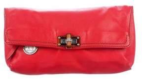 Lanvin Leather Flap Clutch