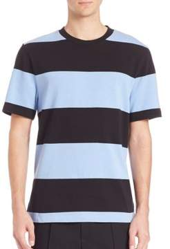 Alexander Wang Engineered Stripe Short Sleeve Tee