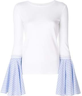 Dondup contrast flared-sleeve sweater