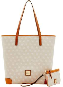 Dooney & Bourke Signature Everyday Tote & Medium Wristlet - BEIGE - STYLE