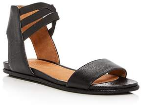 Kenneth Cole Gentle Souls Women's Lark-May Leather Ankle Strap Demi Wedge Sandals