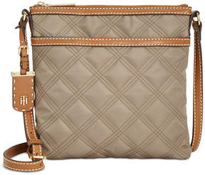 Tommy Hilfiger Julia Triple Quilted Nylon Crossbody, Created for Macy's