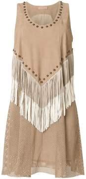 Drome studded fringe dress