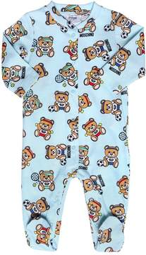 Moschino Bear Printed Cotton Jersey Romper
