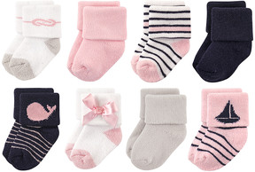 Luvable Friends Pink Sailboat Eight-Pair Sock Set - Infant