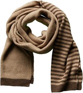 Portolano Men's Brown Stripe Cashmere Scarf