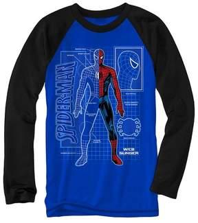 Spiderman Boys' Marvel Long Sleeve T-Shirt - Royal Blue