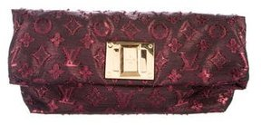 Louis Vuitton Lurex Monogram Altair Clutch - BURGUNDY - STYLE