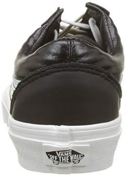 Vans Unisex Old Skool (Moto Leather) Blk/Blcdblc Skate Shoe 6 Men US/7.5 Women US