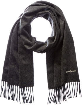 Hickey Freeman Men's Grey Cashmere Scarf