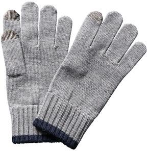 Portolano Men's Grey Wool Gloves