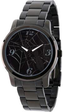 Marvel Spiderman Mens Black Strap Watch-Wma000210