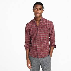 J.Crew Slim American Pima cotton oxford shirt in red plaid