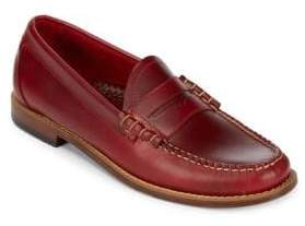 G.H. Bass Lars Stacked Heel Leather Loafers