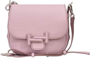 Tod's Pink Double T Saddle Bag
