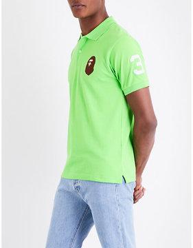 A Bathing Ape Ape head cotton-piqué polo shirt