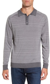Gant Men's Stripe Merino Wool Polo Sweater