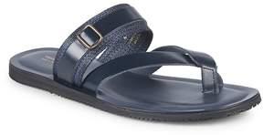 Saks Fifth Avenue Made in Italy Men's Two-Band Leather Thong Sandals