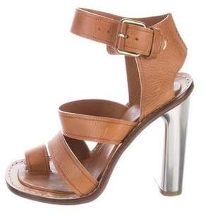 Celine Leather Multistrap Sandals