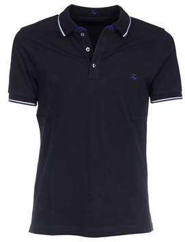 Berwich Men's Blue Cotton Polo Shirt.