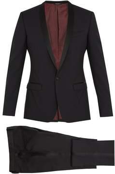 Dolce & Gabbana Gold-fit shawl-lapel wool-blend suit