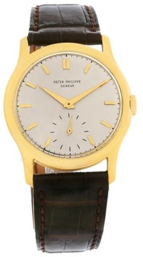 Patek Philippe Calatrava 2448 18K Yellow Gold Vintage 35mm Mens Watch