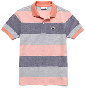 Lacoste Boy's Classic Fit Striped Petit Piqu Polo Shirt