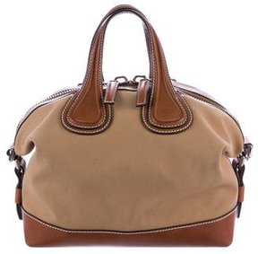 Givenchy Small Nightingale Canvas Satchel
