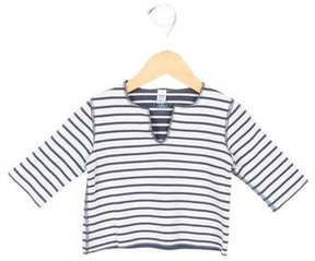 Petit Bateau Girls' Striped V-Neck Top