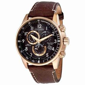 Citizen PCAT Limited Edition Men's Chronograph Leather Watch AT4133-09E