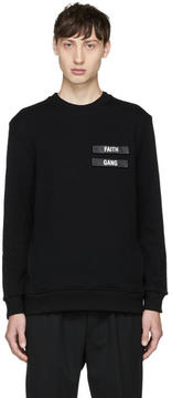 Neil Barrett Black Faith Gang Sweatshirt
