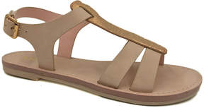 Bamboo Blush & Goldtone Fate Sandal - Women