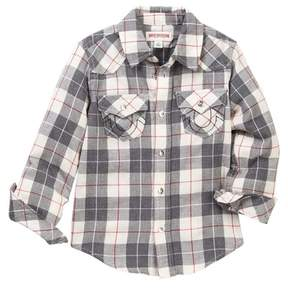 True Religion Woven Plaid Western Shirt (Little Boys)