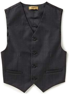 Class Club Gold Label Big Boys 8-20 Glen Plaid Vest