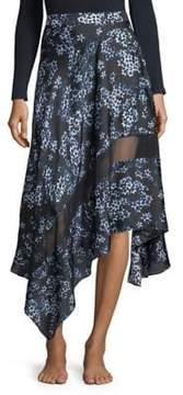 Fleur Du Mal Silk Handkerchief Skirt