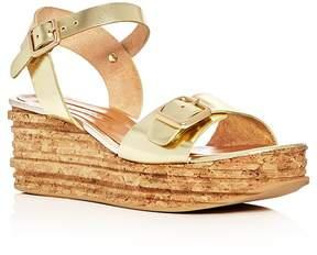 Andre Assous Belle Metallic Platform Wedge Sandals