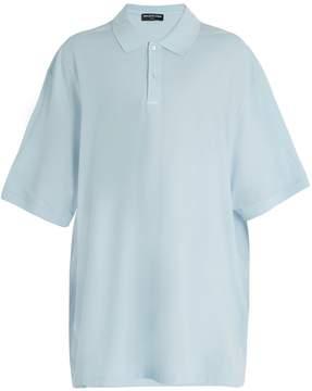 Balenciaga Oversized cotton-piqué polo shirt