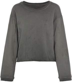 RtA Distressed Cotton-Terry Sweatshirt