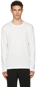 Issey Miyake White Long Sleeve Basic Bio T-Shirt