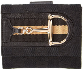 Gucci Black Canvas D Ring Wallet - ONE COLOR - STYLE