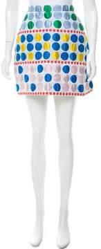 DELPOZO Jacquard Polka Dot Skirt