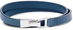 Miansai Moore Leather Sterling Silver Wrap Bracelet