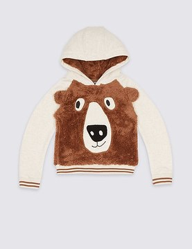 Marks and Spencer Applique Hooded Sweatshirt (3 Months - 5 Years)