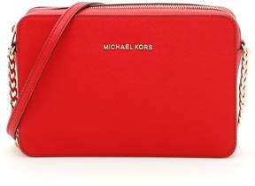 MICHAEL Michael Kors Jet Set Travel Crossbody Bag - BRIGHT RED|ROSSO - STYLE