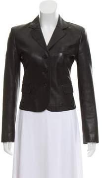 Strenesse Structured Leather Blazer