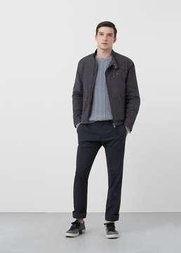Mango Outlet Appliqué cotton jacket