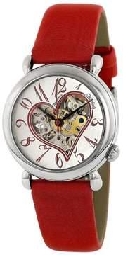 Stuhrling Original CUPID II 109.1215H2 Stainless Steel & Leather 35mm Watch