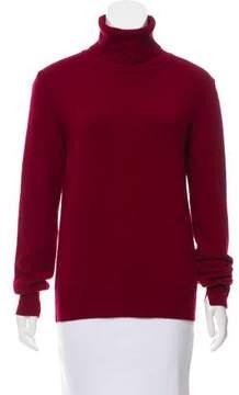 Celine Rib Knit Trimmed Turtleneck Sweater