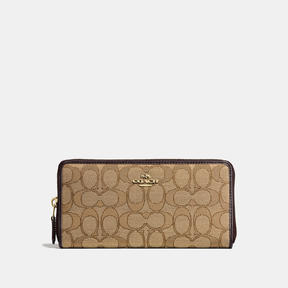 COACH Coach Accordion Zip Wallet - LIGHT GOLD/KHAKI - STYLE